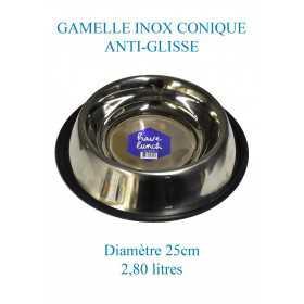 Gamelle pour chien en inox grande taille