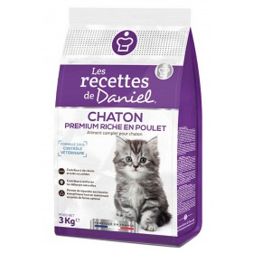 Croquettes PREMIUM CHATON - AU POULET 3kg