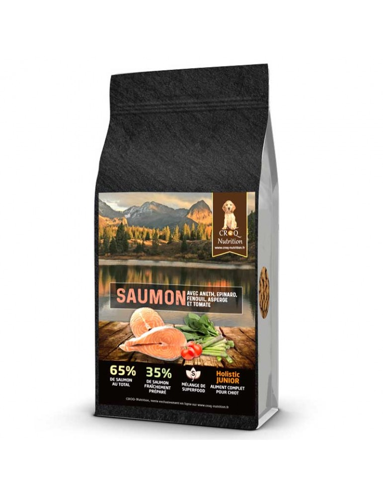 croquettes chiot superfood holistic saumon à l'aneth sac de 12kg
