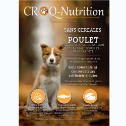 croquettes chiot sans céréales grain free 60% poulet dinde et saumon 12kg