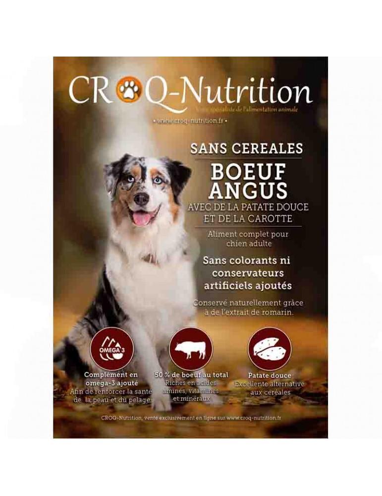 croquettes chien sans céréales grain free 50% boeuf angus sac de 12kg