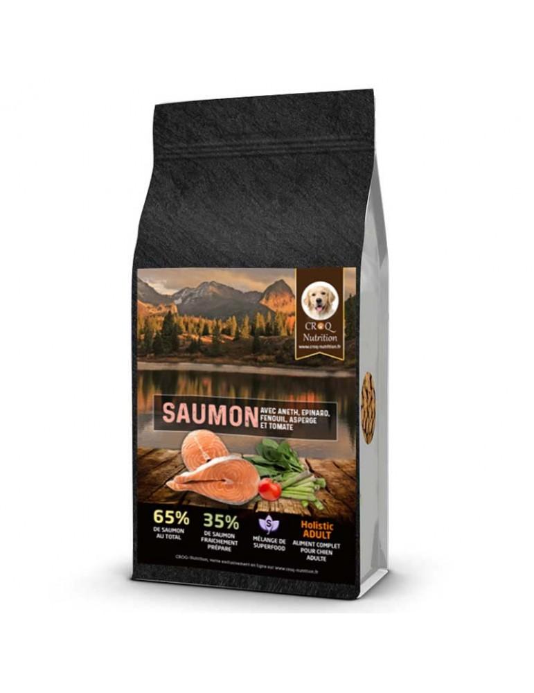Croquettes chien superfood holistic saumon sac de 12kg