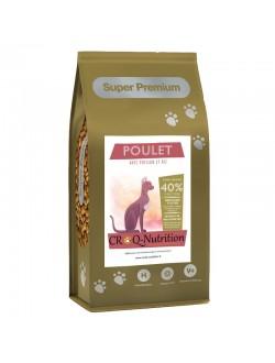 CROQUETTES SUPER PREMIUM chat senior au POULET avec POISSON et RIZ 2kg