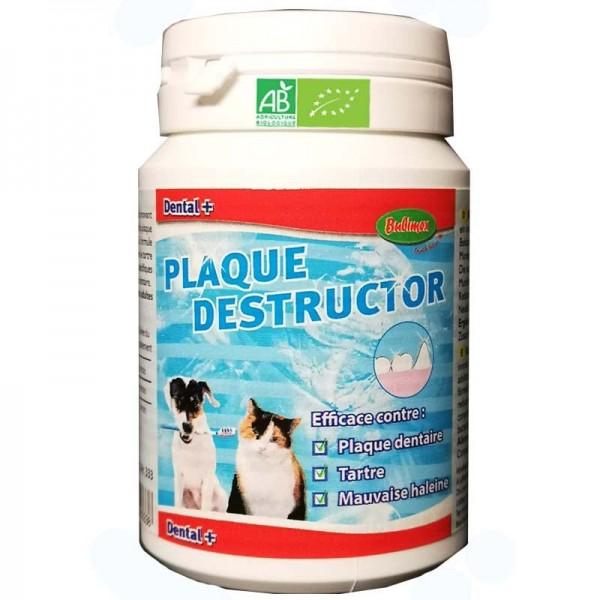 Plaque destructor pour chien dental plus bubimex