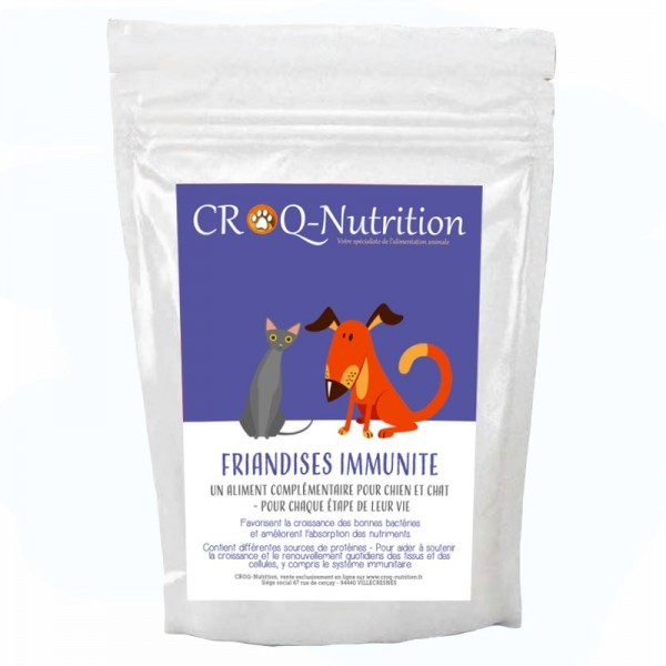 Friandises fonctionnelles immunité chien et chat