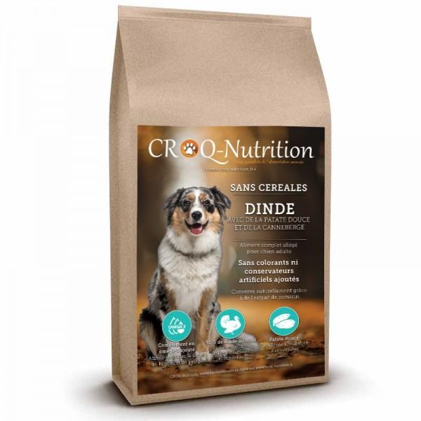 Croquettes sans céréales light pour chien adulte à la dinde sac de 12kg