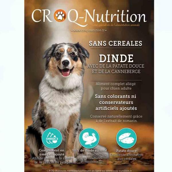 Croquettes light sans céréales chien adulte POULET sac de 12kg