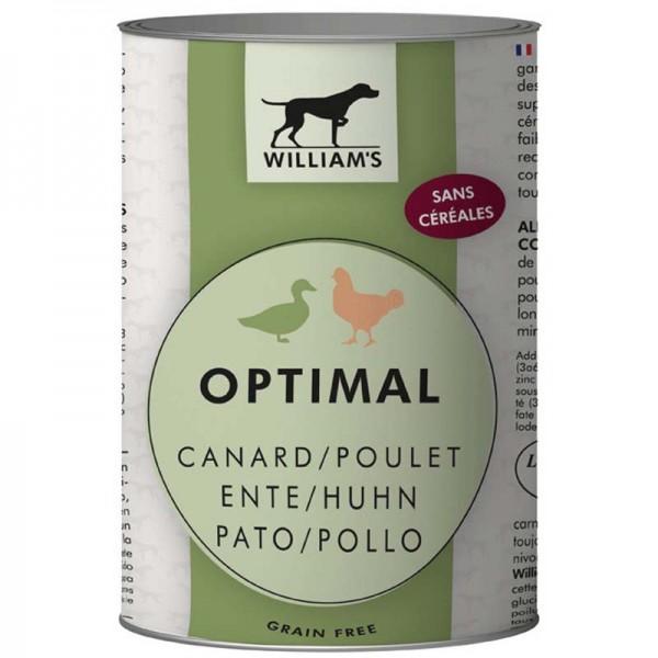 Pâtée william's optimal au canard et poulet