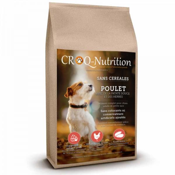 Croquettes sans céréales pour chien adulte de petite race au poulet sac de 6kg