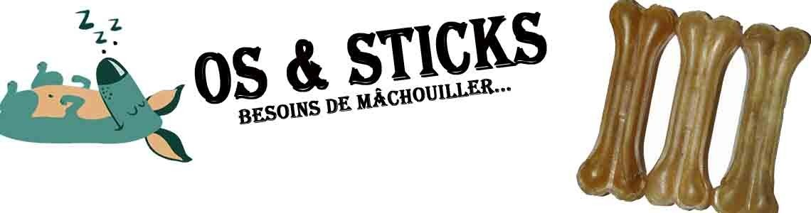 Os à macher & sticks chien