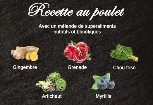 ingredients superaliments croquettes superfood poulet croq-nutrition